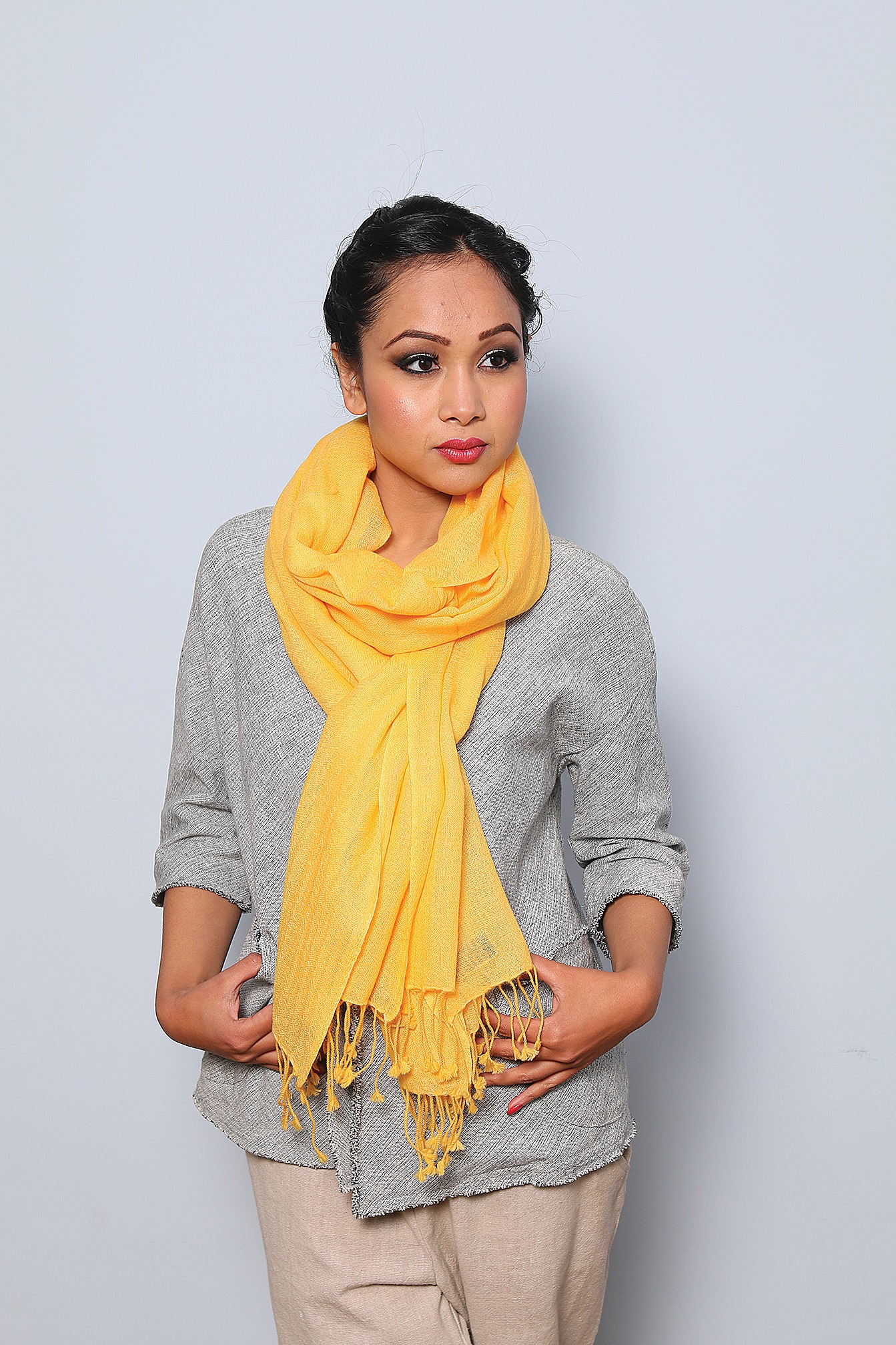 Woolen Shawl Yellow