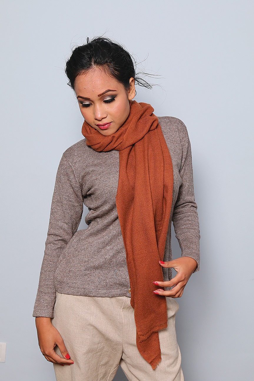 Woolen Shawl Brown